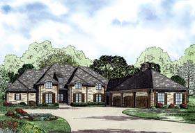European House Plan 82239 with 4 Beds, 4 Baths, 3 Car Garage Elevation
