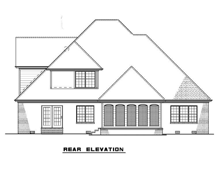 European House Plan 82241 Rear Elevation