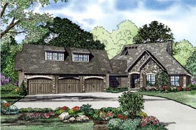 European House Plan 82242 Elevation