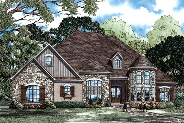 Country European House Plan 82245 Elevation