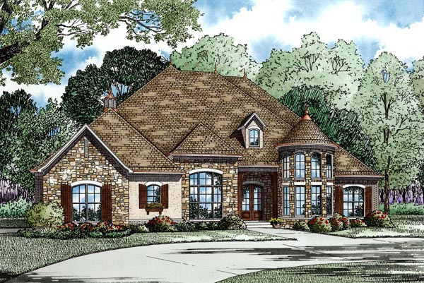 Country European Traditional House Plan 82247 Elevation