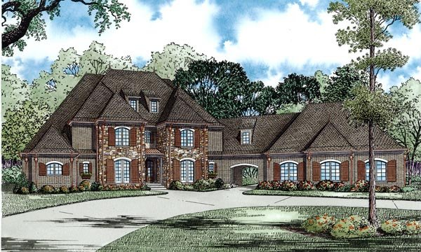 European Traditional House Plan 82248 Elevation