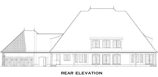 European Traditional House Plan 82248 Rear Elevation