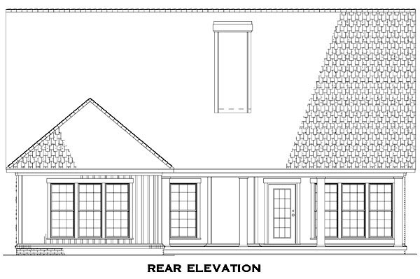 Country Craftsman European House Plan 82250 Rear Elevation