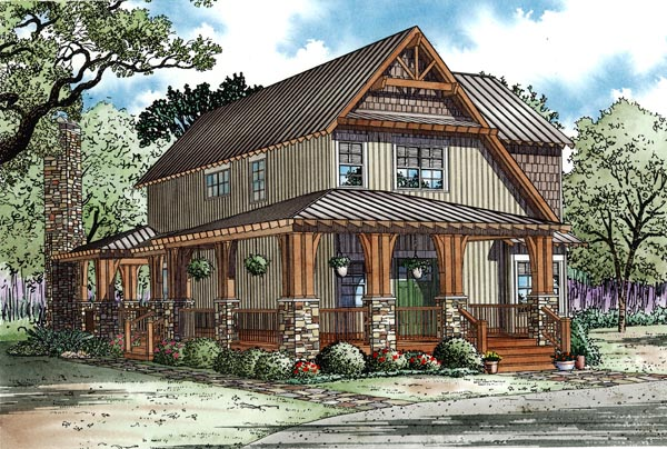 Country Craftsman House Plan 82251 Elevation