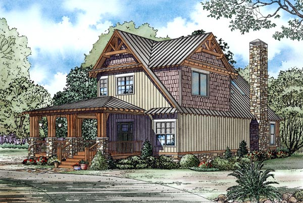 Country, Craftsman House Plan 82251 with 3 Beds, 2 Baths Picture 1