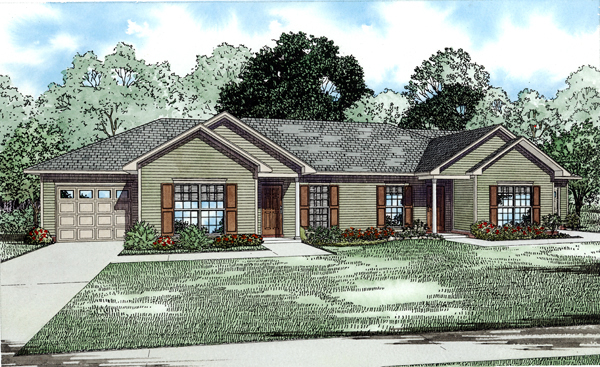 Traditional , Elevation of Plan 82252