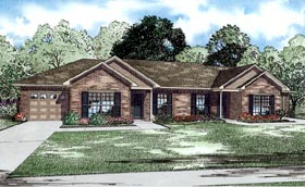 Traditional Multi-Family Plan 82253 with 4 Beds, 2 Baths, 2 Car Garage Elevation