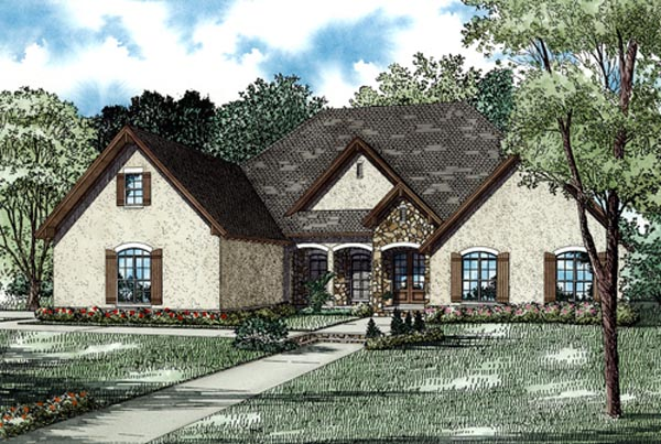 Country European Traditional House Plan 82256 Elevation