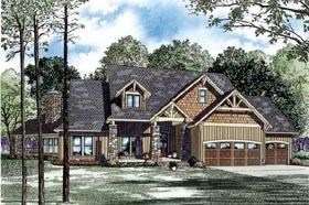Craftsman House Plan 82260 with 4 Beds, 3 Baths, 3 Car Garage Elevation
