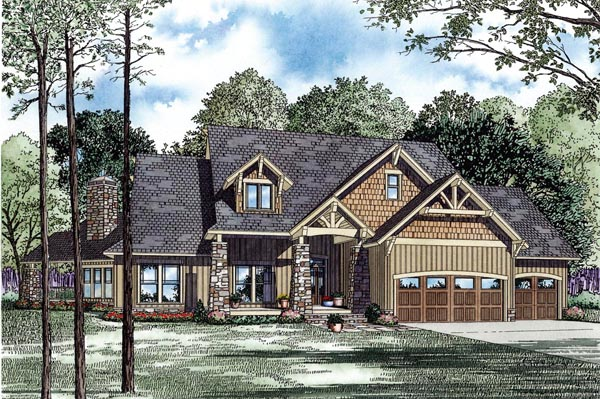 Craftsman House Plan 82260 Elevation