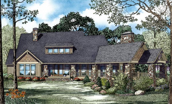 Craftsman House Plan 82260 Rear Elevation