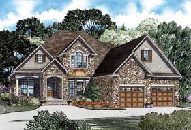 European House Plan 82264 Elevation