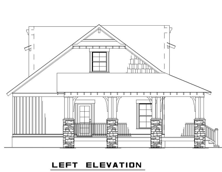 Cottage, Country, Craftsman House Plan 82267 with 3 Beds, 2 Baths Picture 1