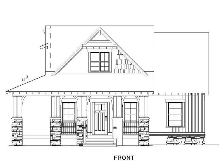 Cottage, Country, Craftsman House Plan 82267 with 3 Beds, 2 Baths Picture 2