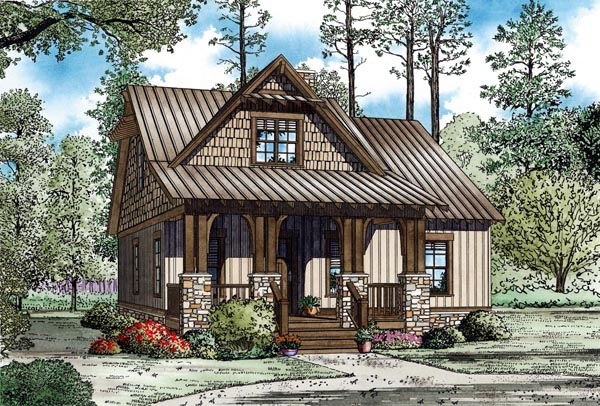 Cottage Country Craftsman House Plan 82268 Elevation
