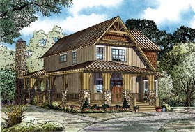 House Plan 82269 | Craftsman Style Plan with 2790 Sq Ft, 5 Bedrooms, 3 Bathrooms Elevation
