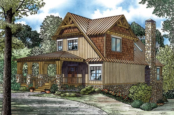 Craftsman House Plan 82269 with 5 Beds, 3 Baths Picture 1