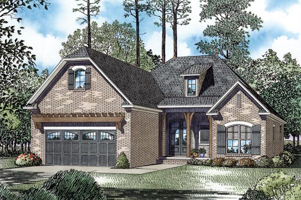 European House Plan 82271 Elevation