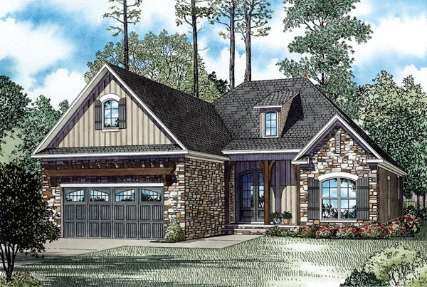 Craftsman European Tuscan House Plan 82272 Elevation