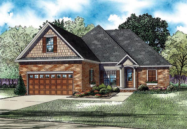 European House Plan 82273 Elevation