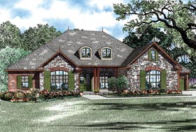 Country , Craftsman , European House Plan 82275 with 3 Beds, 3 Baths, 4 Car Garage Elevation