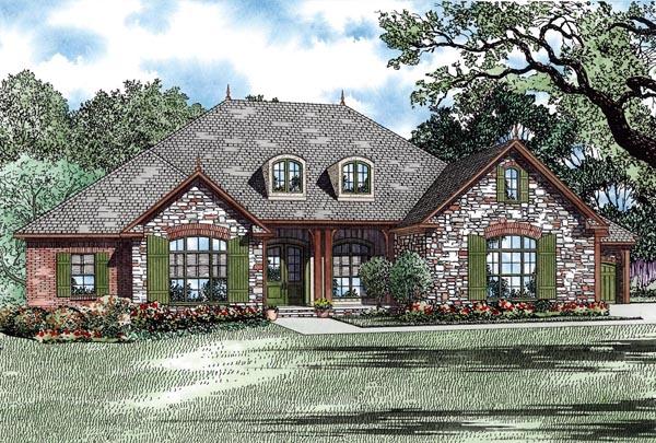 Country Craftsman European House Plan 82275 Elevation