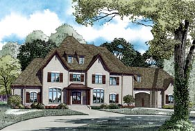 House Plan 82281 | Style Plan with 6674 Sq Ft, 4 Bedrooms, 5 Bathrooms, 4 Car Garage Elevation