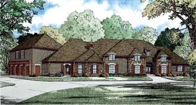 House Plan 82283 with 5 Beds, 6 Baths, 4 Car Garage Elevation