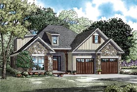 House Plan 82285 with 3 Beds, 3 Baths, 2 Car Garage Elevation
