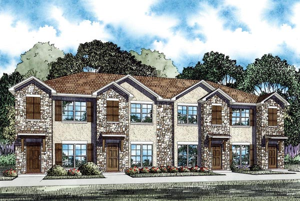 Multi-Family Plan 82286 with 8 Beds , 8 Baths Elevation