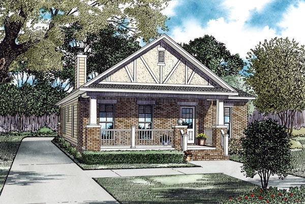 Bungalow Craftsman Tudor House Plan 82291 Elevation