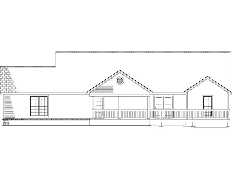 House Plan 82293 Rear Elevation