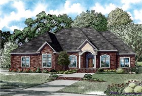 House Plan 82294 | Style Plan with 4037 Sq Ft, 4 Bedrooms, 5 Bathrooms, 3 Car Garage Elevation