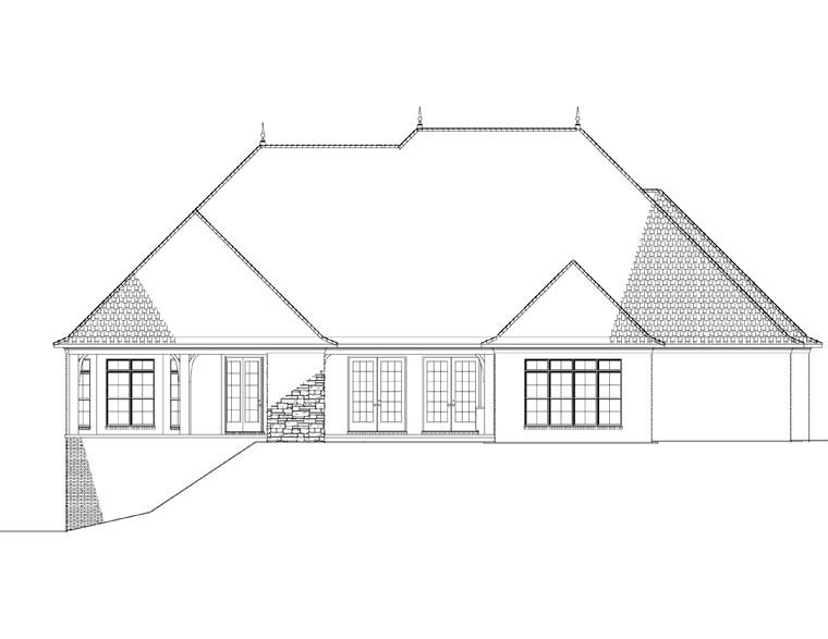 House Plan 82296 Rear Elevation