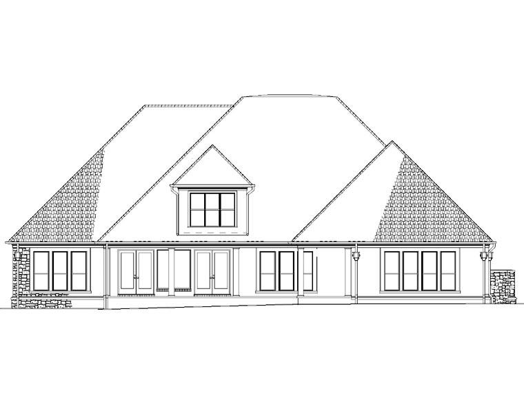 House Plan 82297 Rear Elevation