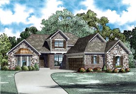 House Plan 82299 with 3 Beds, 3 Baths, 2 Car Garage Elevation