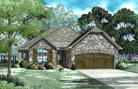 House Plan 82308 with 4 Beds, 2 Baths, 2 Car Garage Elevation