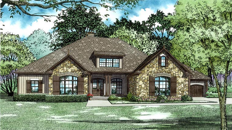 House Plan 82309 with 3 Beds, 4 Baths, 4 Car Garage Elevation