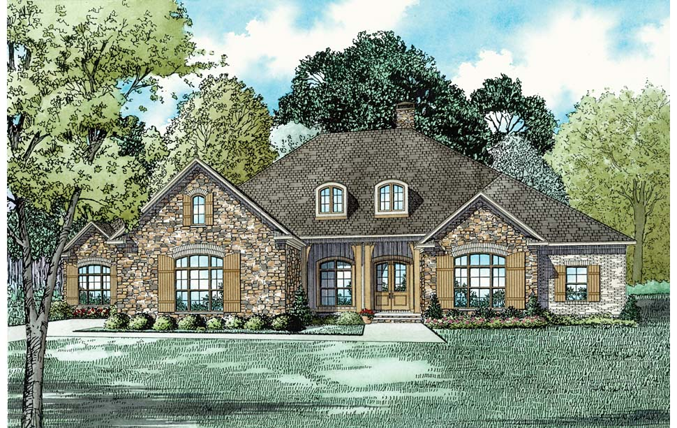 House Plan 82311 with 3 Beds, 3 Baths, 3 Car Garage Elevation