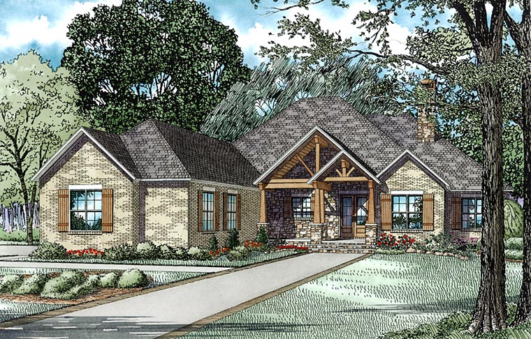 House Plan 82313 with 3 Beds, 3 Baths, 3 Car Garage Elevation