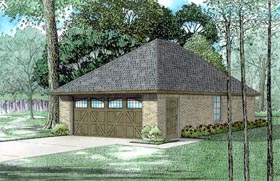 2 Car Garage Plan 82315 Elevation