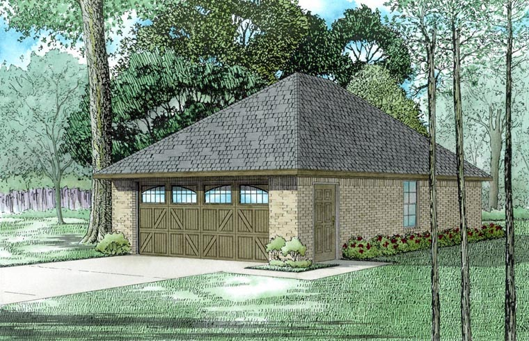 Garage Plan 82315 Elevation
