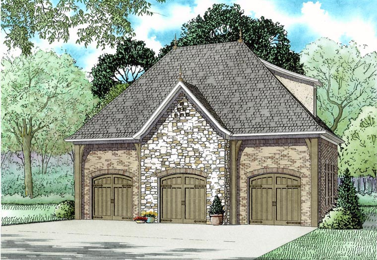3 Car Garage Apartment Plan 82325 Elevation