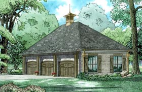 Garage Plan 82328 Elevation