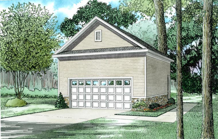 2 Car Garage Plan 82329 Elevation