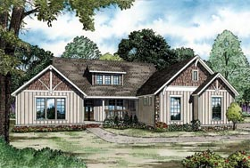 House Plan 82331 with 3 Beds, 3 Baths, 2 Car Garage Elevation
