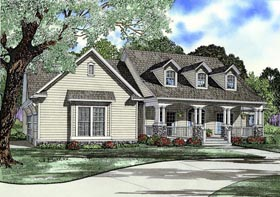 Country Southern Traditional House Plan 82332 Elevation