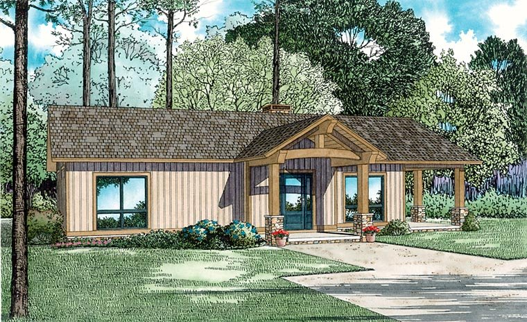 Cabin Ranch House Plan 82345 Elevation