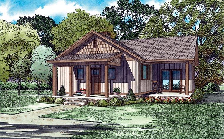 Cottage Craftsman House Plan 82346 Elevation